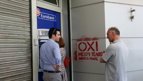 Daily Agenda Greece Votes OXI That Means No