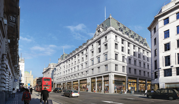 Oxford Properties acquired St. James's Market, on the site of the historic market near Regent Street, for €412.9 million in May 2013.