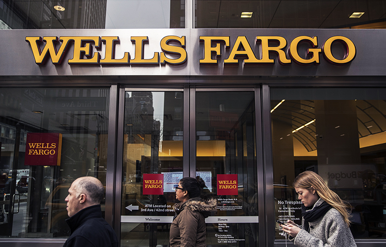Wells Fargo, New York (Victor J. Blue/Bloomberg).