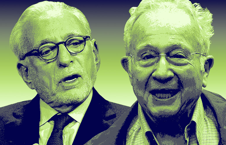(left) Nelson Peltz of Trian Fund Management LP, (Patrick T. Fallon/Bloomberg), (right) Marty Lipton of Wachtell Lipton Rosen