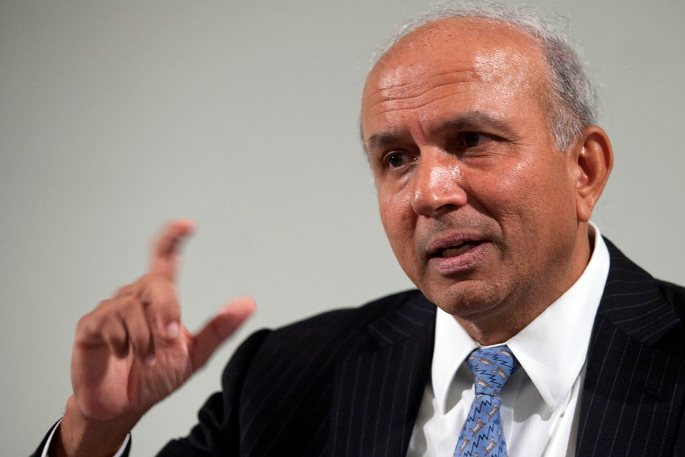 Prem Watsa, chief executive officer of Fairfax Financial Holdings. (Norm Betts/Bloomberg)