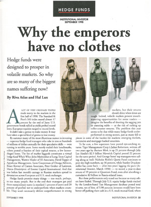 Why the Emperors Have No Clothes
