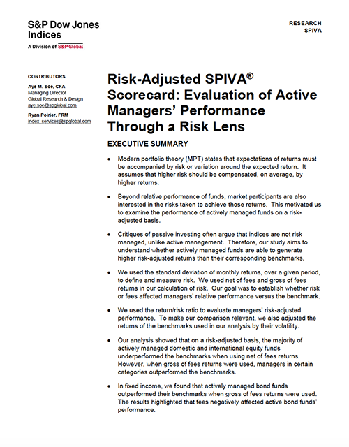 Risk-Adjusted SPIVA® Scorecard